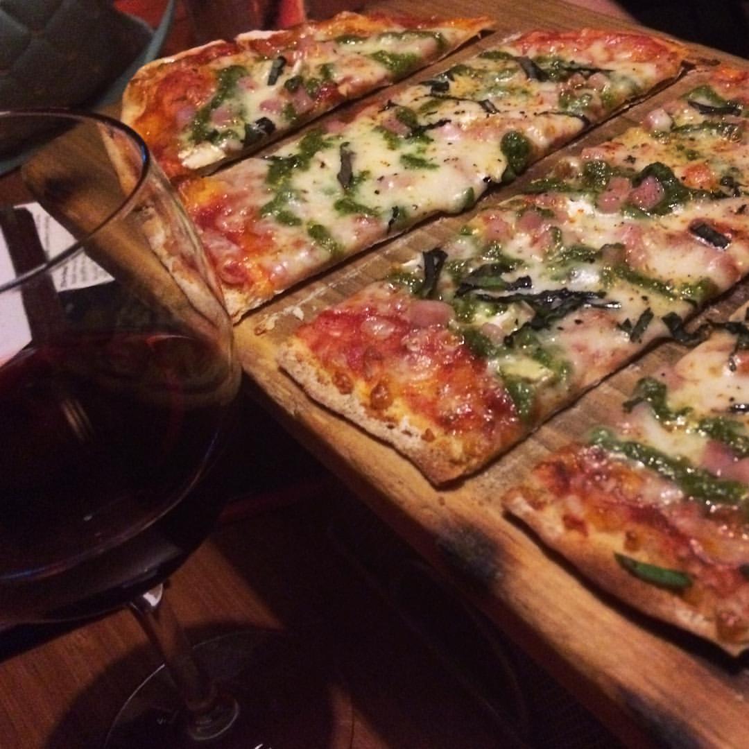 Pizza at Bar 35.