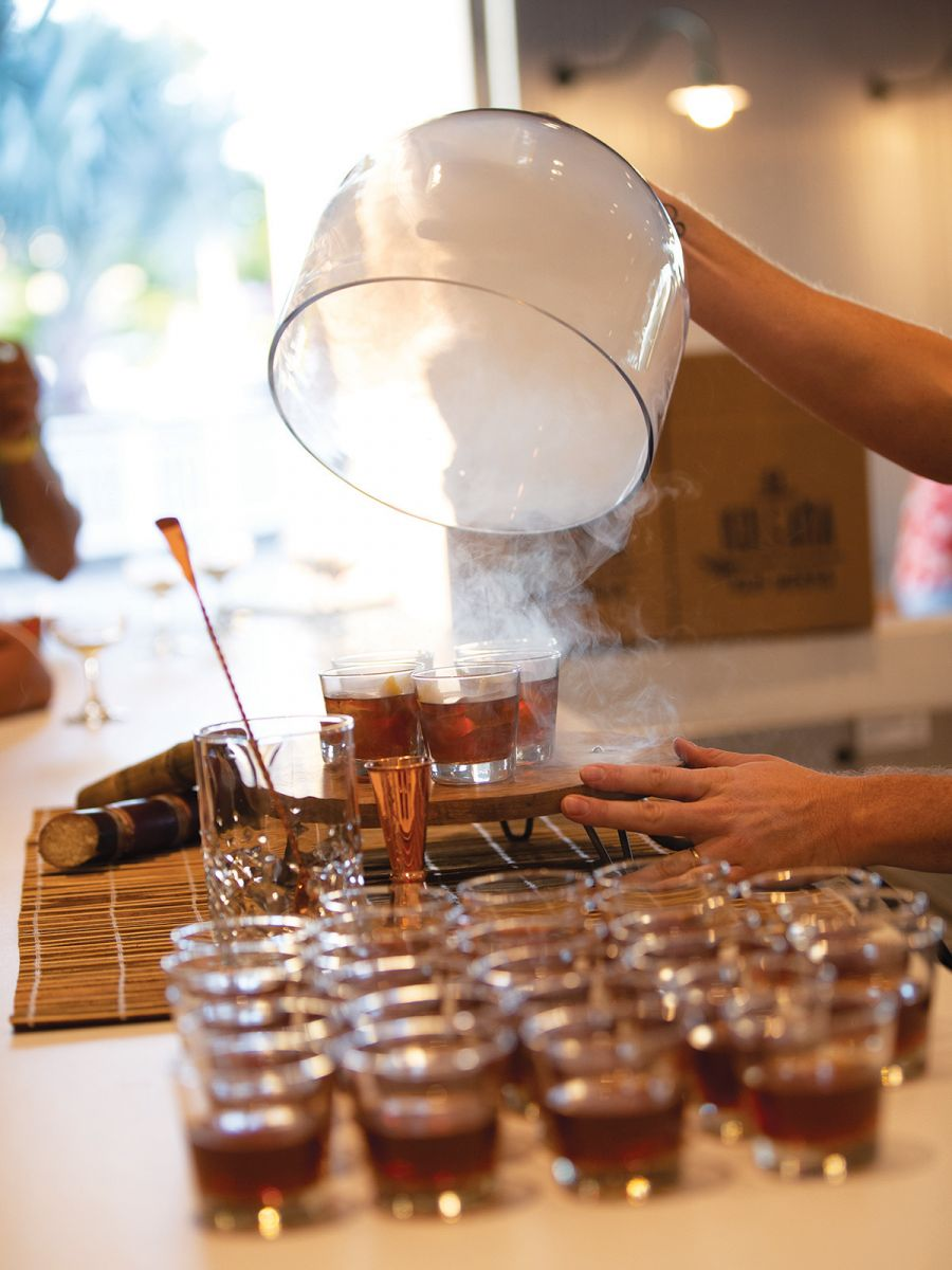 The rum tastings showcase the company's many offerings.