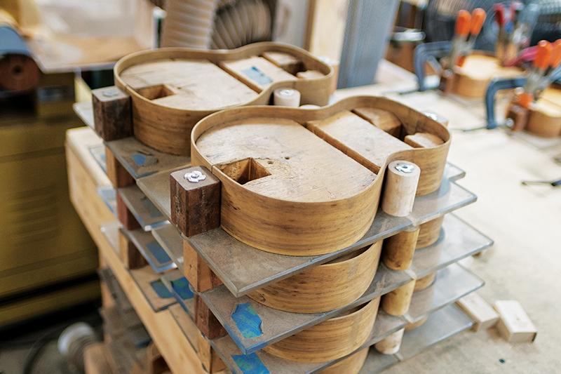 koa wood bent to ukulele shape