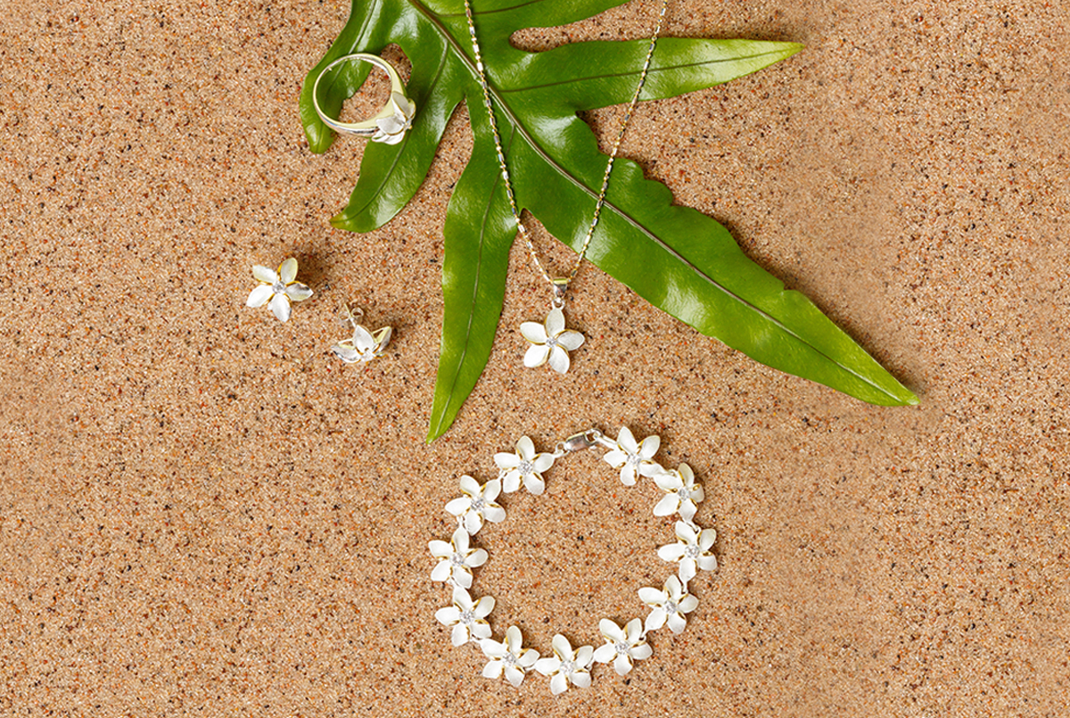 paradise collection two-toned silver jewelry