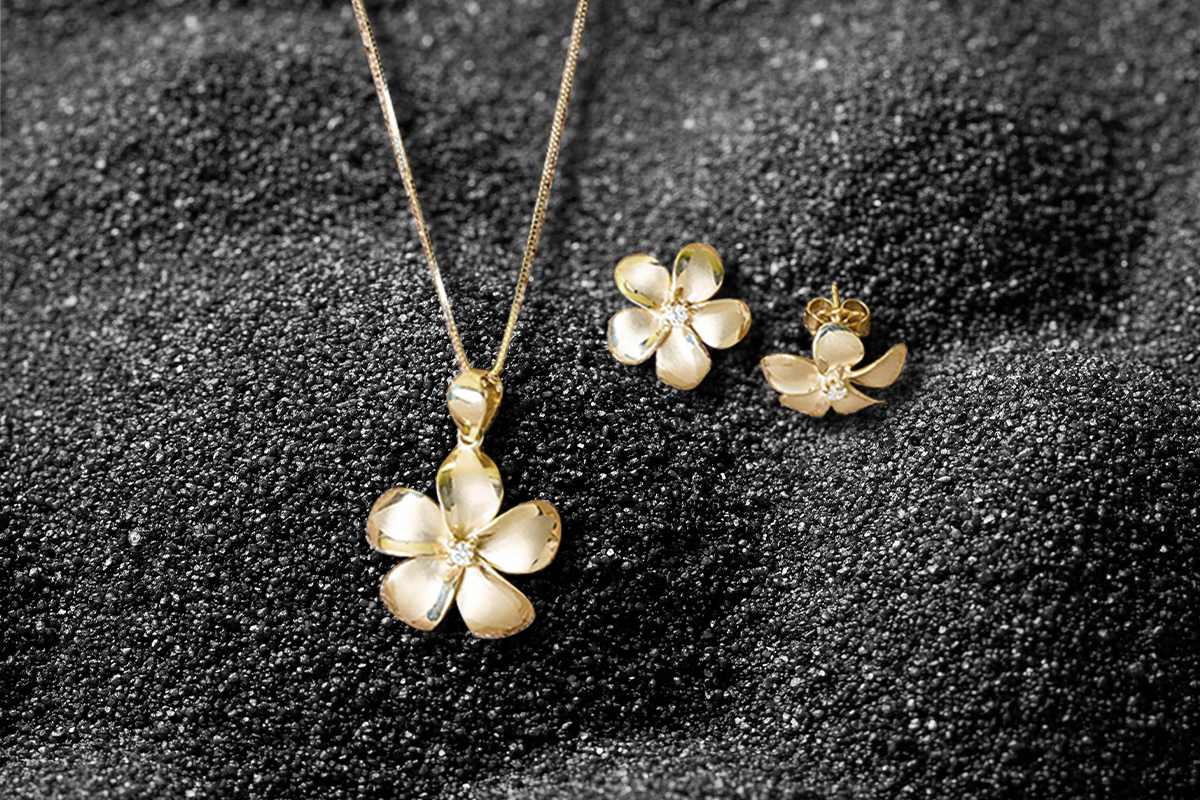 paradise collection plumeria jewelry