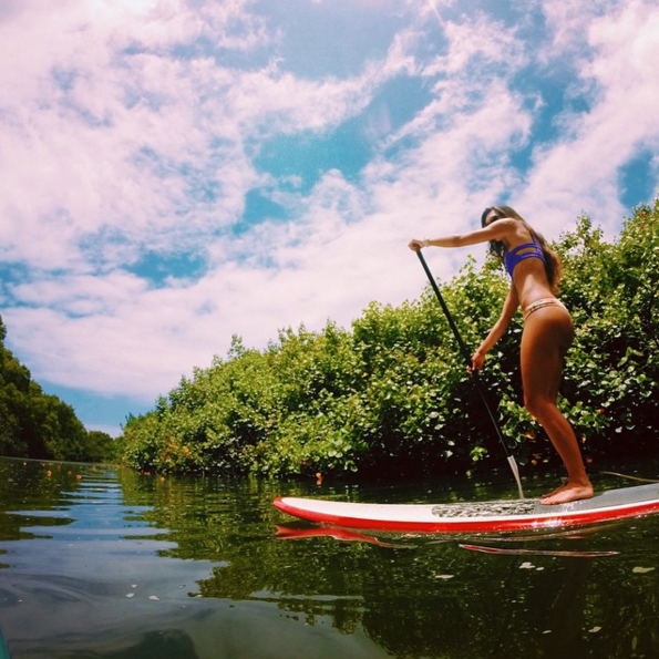 hanalei river stand up paddling