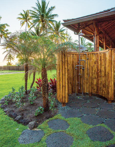 Refresh With These Tropical Outdoor Showers Hawaii Magazine