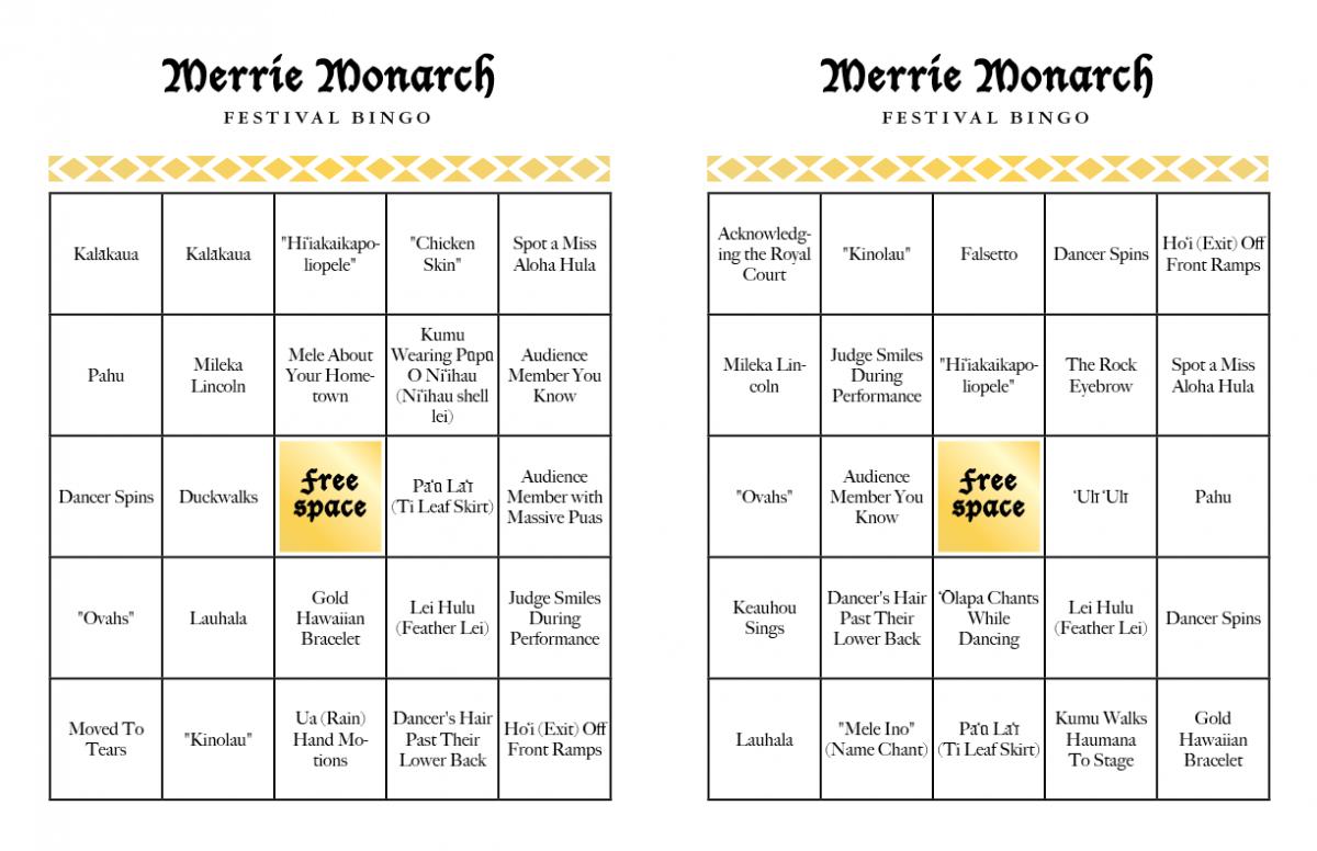 merrie monarch bingo