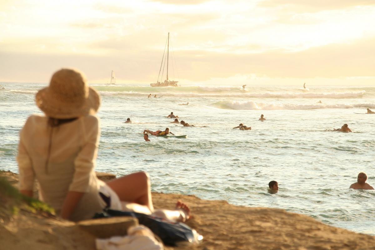 beach hawaii relax