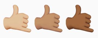 shaka emoji hawaii