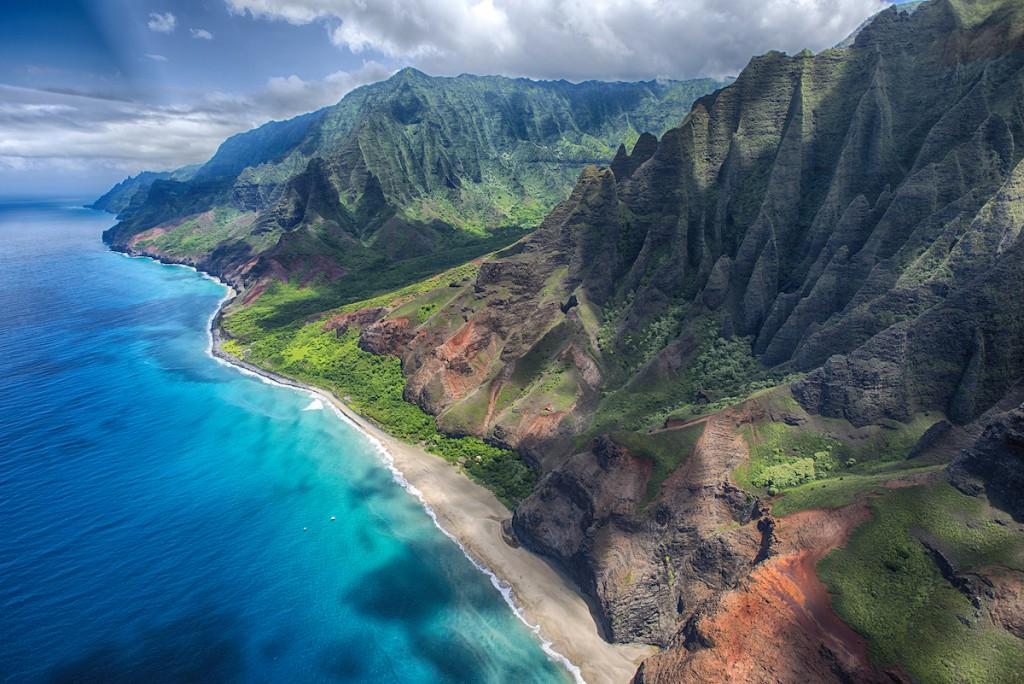 Na'pali Coast Aerial