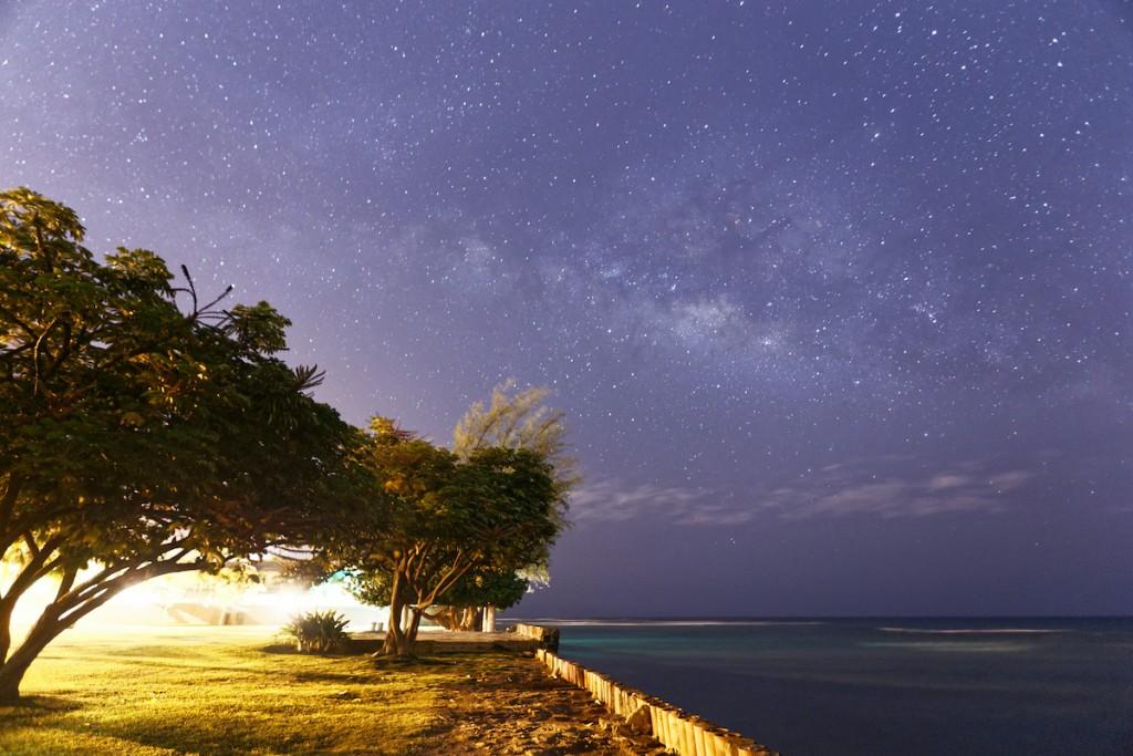Milky Way Galaxy At Waikiki Beach Hawaii