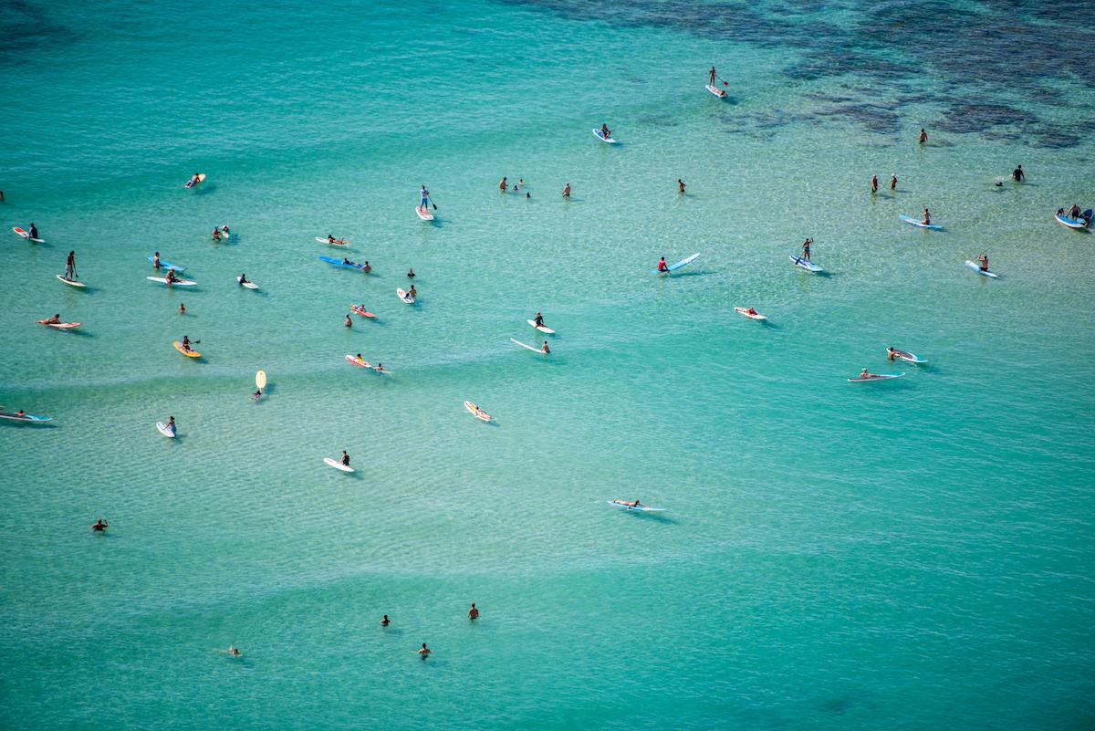 Water Fun On Waikiki Beach