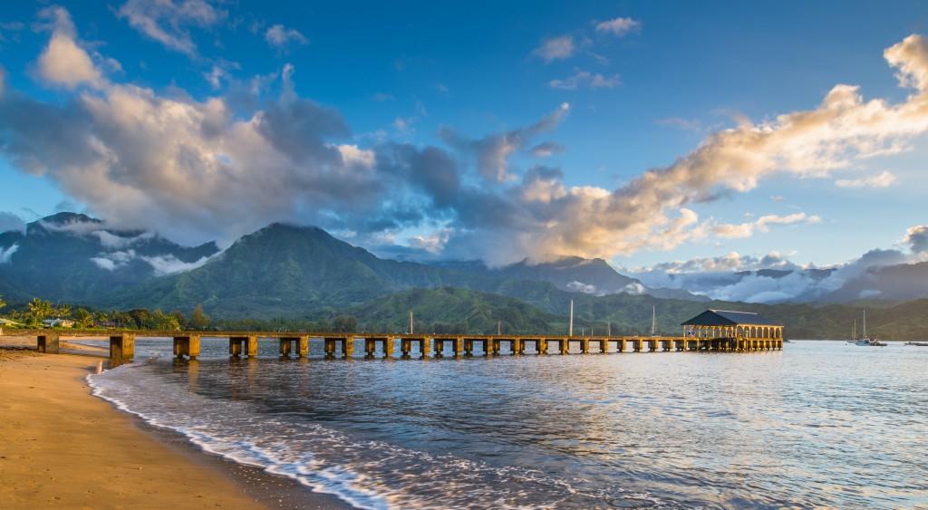Hanalei Beach At Hanalei Bay. Kauai, Hawaii