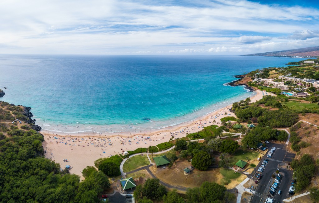 Aerial Panorama Of The Hapuna Beach