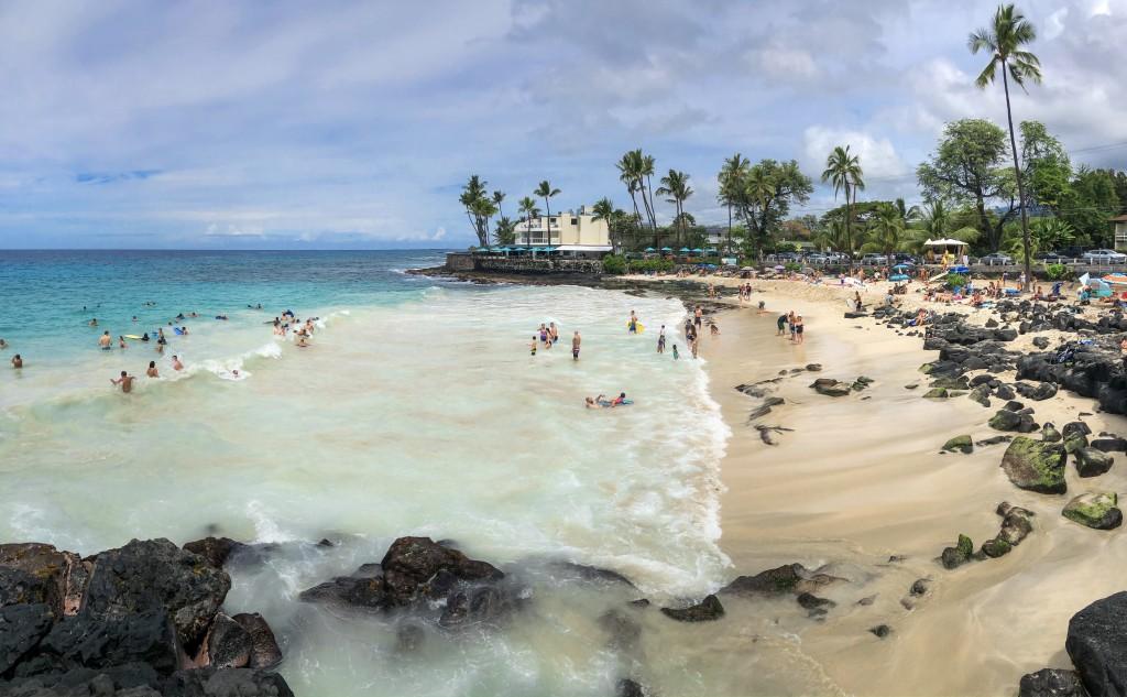 Panorama Of Magic Sand Beach Park In Kona, Big Island, Hawaii