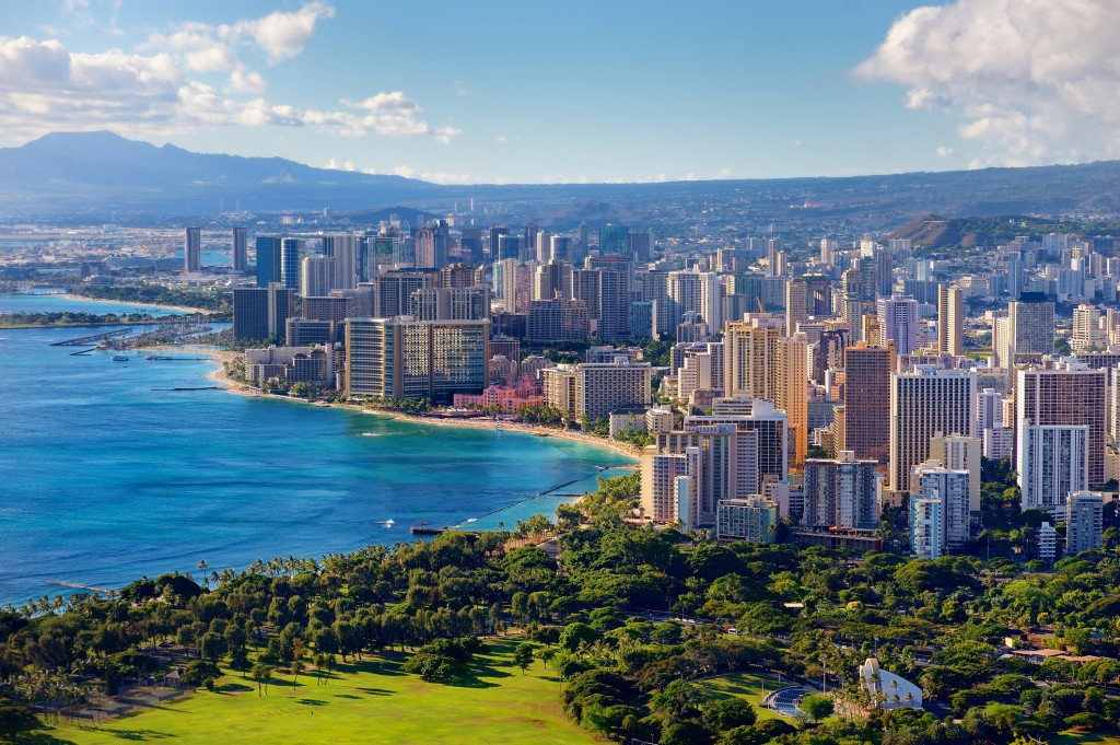 Spectacular View Of Honolulu City