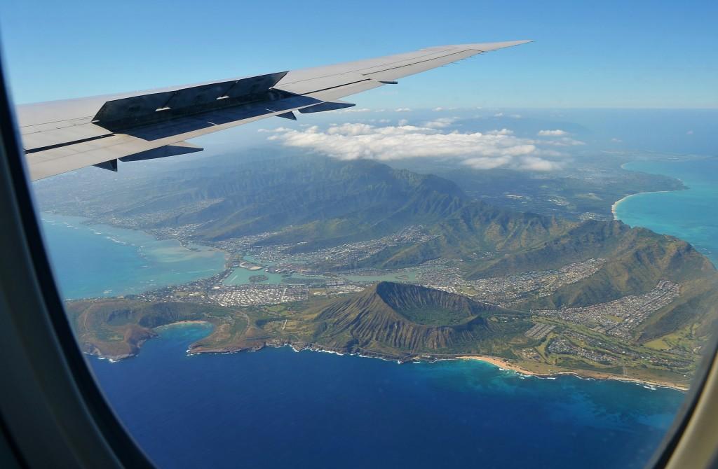 Aerial View On Famous Koko Crater Honolulu Hawaii